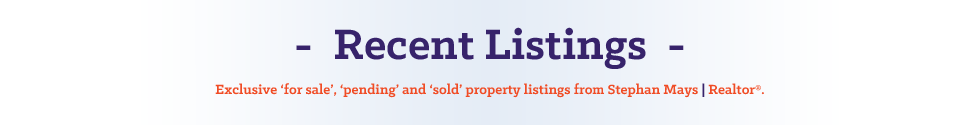 header of listings page